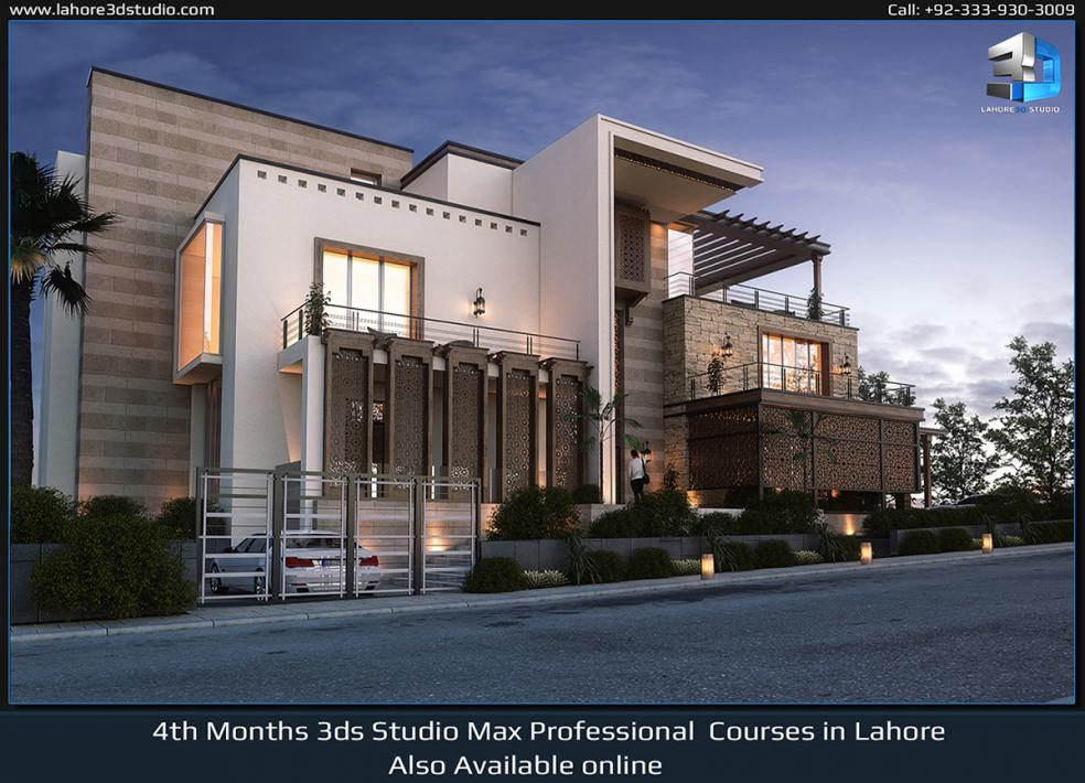 V-ray Exterior Visualization Courses In Lahore